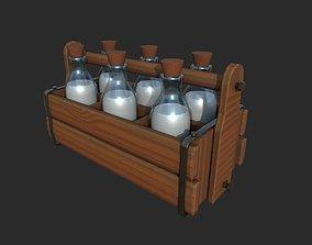 3D asset Milk container
