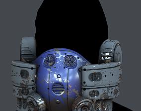 Gas mask helmet 3d model VR / AR ready 4
