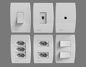 Siemens Outlets and Switches 3D model