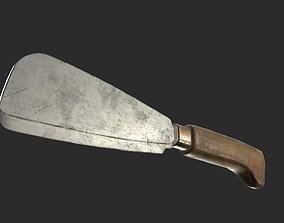 Cleaver Knife 2 Rusty and Clean PBR Game Ready 3D model