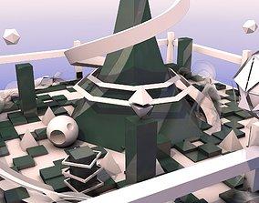 3D model game-ready SI-FI City