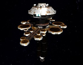 3D asset STAR TREK - OFFICE SPACE STATION