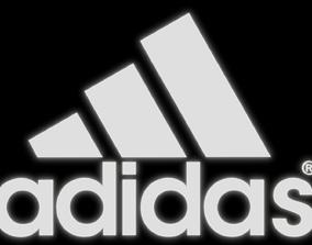 Adidas Logo - made in Blender 3D model