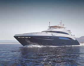 Large luxurious yacht 3D model
