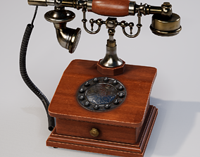 3D model game-ready Vintage phone