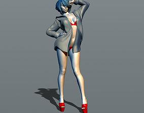 3D print model Girl in a mans shirt