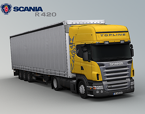 3D asset Scania R420 with trailer