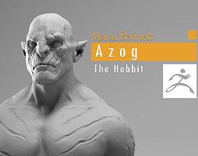 3D print model Manu Bennett - Azog the defiler - The
