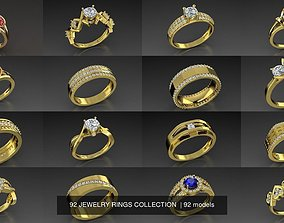 92 JEWELRY RINGS COLLECTION 3D model