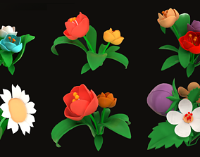 Asset - Cartoons - Flower 3D