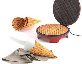 Waffle maker 3D