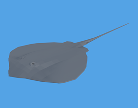 3D asset Low Poly Cartoon Stingray
