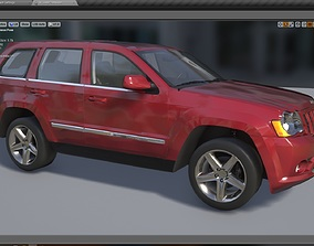 Skinned Jeep Grand Cherokee With Detailed 3D model 1