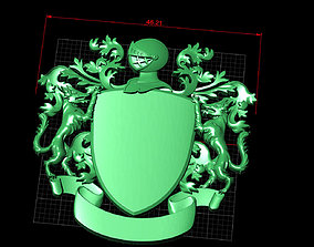 3D printable model basis for the coat of arms