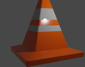 Traffic cone Lowpoly 3D asset