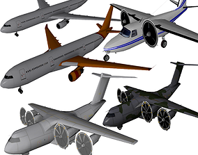 Pack Aircraft 3D rigged