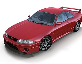 Nissan Skyline GTR 33 3D asset VR / AR ready
