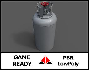 Gas tank 3D asset low-poly PBR