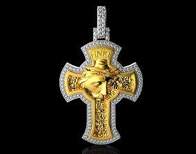 JESUS With Diamonds Pendant N3 3D printable model