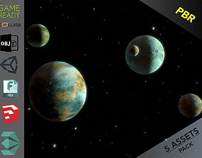 Planets Pack 3D model
