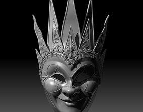 Venetian Carnival Mask V2 3D printable model costume