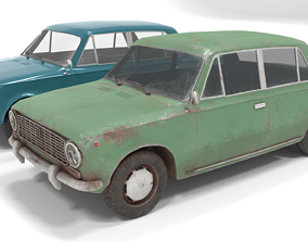 80s Russian Car Low poly 3D model