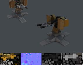 3D model Gatling Gun