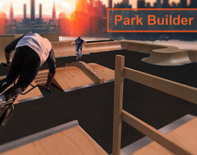 Skate Park builder - Elements and full park for 3D model 1
