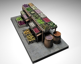 Vegetable Stand Market 2 3D