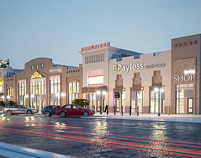 cars City shopping mall 3D