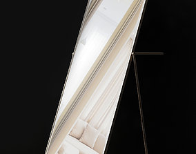 game-ready Ikea Ikornnes floor mirror low poly 3d model