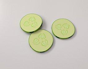 3D Cucumber Slices