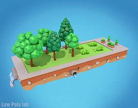 Cartoon Trees Pack 3D model