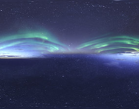 3D Skydome HDRI - Northern Lights and Stars with Real-Time
