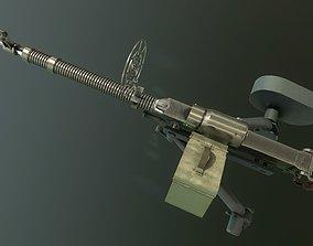 DSHK machine-gun 3D asset animated