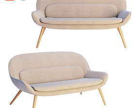 3D Steelcase x Bolia - Philippa Two Seater Sofa