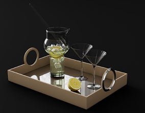 Leather Serving Tray 3D model