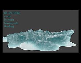 3D model low-poly iceberg