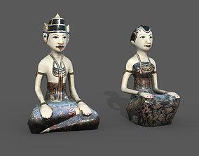 Wooden Statue 3D model