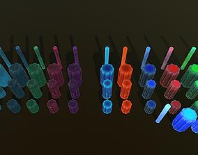3D asset Minerals fantasy style v2 13 colors