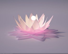 Glowing Lotus 3D