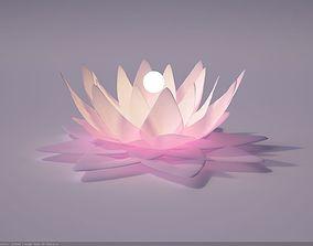 Glowing Lotus 3D