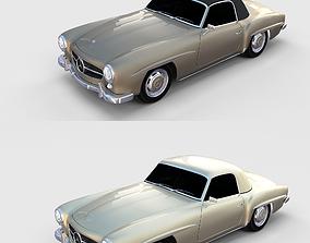 Mercedes 190SL Pack 3D model