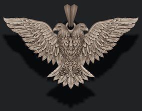 3D printable model two-headed eagle pendant
