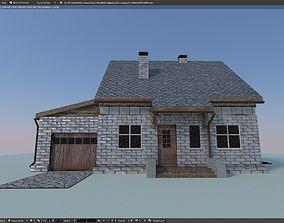 Brick House 3D asset