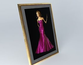 Lady in a Gown Sculptured 3D