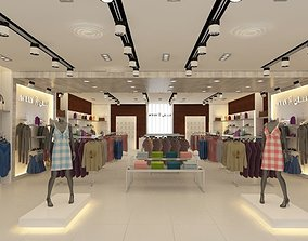 Clothing Store interior 3D Model chair