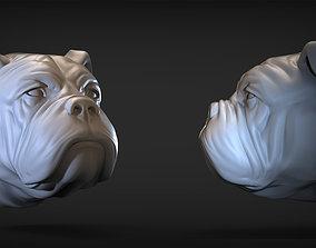 Bulldog Head 3D printable model