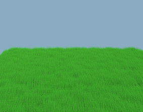 3D model animated Grass
