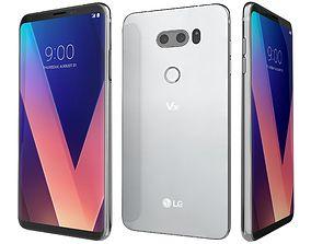LG V30 Cloud Silver 3D